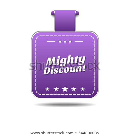 Mighty Discount Violet Vector Icon Design Stock photo © rizwanali3d