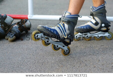 young roller couple lies in park Stock photo © Paha_L