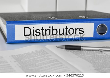 A folder with the label Distributors Stock photo © Zerbor