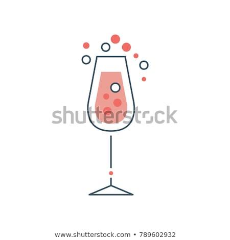 copo · de · vinho · água · fora · vinho - foto stock © ruslanomega