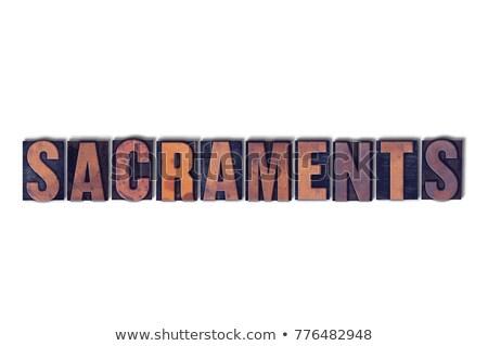 Keresztség izolált magasnyomás szó írott Stock fotó © enterlinedesign