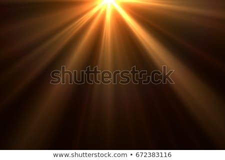 Zonsondergang zon stralen spectaculaire Blauw oranje Stockfoto © meinzahn