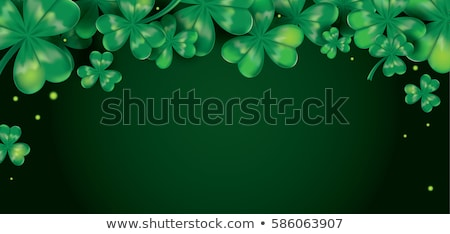 Tag Glückwunsch drei Blatt Klee grüne Blätter Stock foto © timurock