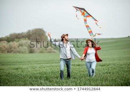 çift park portre aile eller sevmek Stok fotoğraf © pedromonteiro