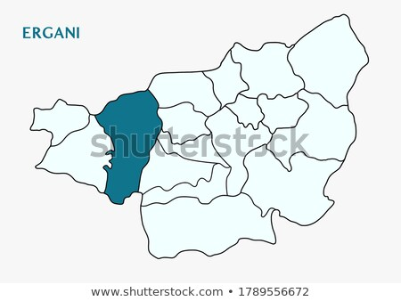 Map of Diyarbakir - Ergani is pulled out Stock photo © Istanbul2009