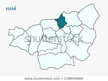 Map of Diyarbakir - Hani is pulled out Stock photo © Istanbul2009