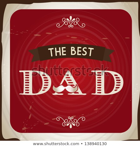 Best Dad with a mustache over A  Stock photo © shawlinmohd