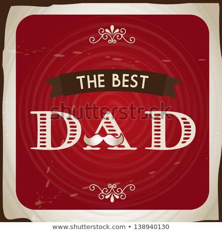 Mejor papá bigote resumen corazón fondo Foto stock © shawlinmohd