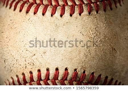 Softball texture sport balle courir jeu Photo stock © erbephoto
