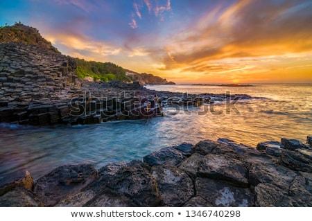Kő tenger utazás Vietnam yen természet Stock fotó © xuanhuongho