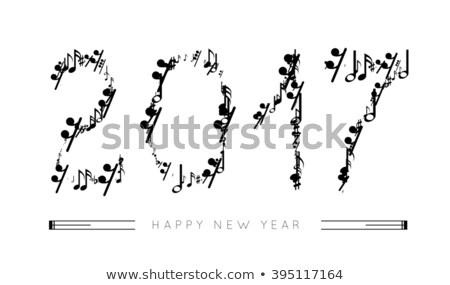 Notas musicales forma números año música diseno Foto stock © m_pavlov