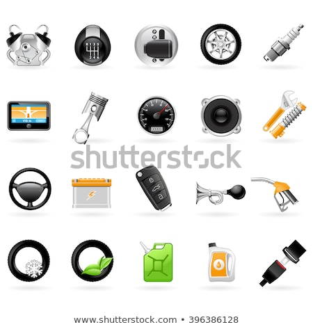 Vehicular service center (car maintenance station) icons Stock photo © Winner
