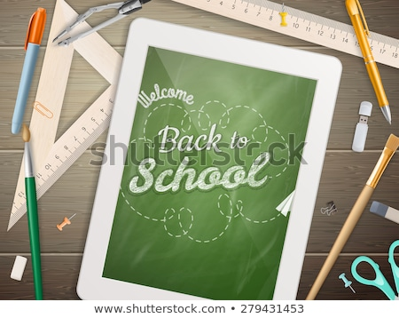 Tablet back to school Sale. EPS 10 Stock photo © beholdereye