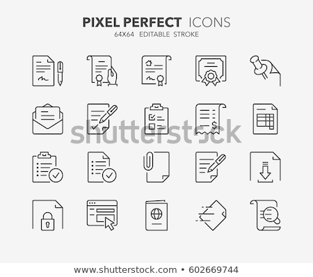 pushpin line icon stock photo © rastudio