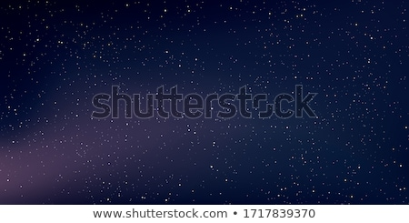 beautiful purple night sky with many stars stock photo © vapi