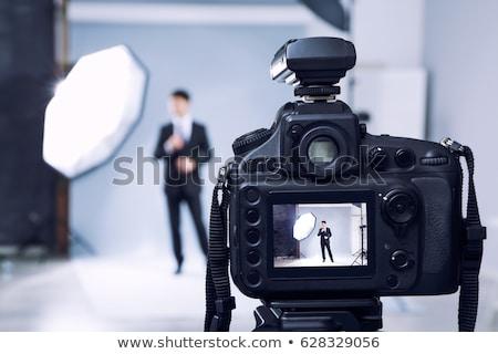 профессиональных фотограф оборудование студию человека работу Сток-фото © Studiotrebuchet