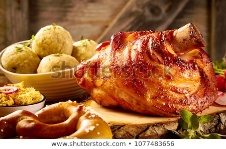Roast pork chop and accompaniment Stock photo © Digifoodstock