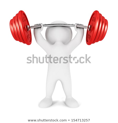 Weightlifting 3D Character Stock photo © make