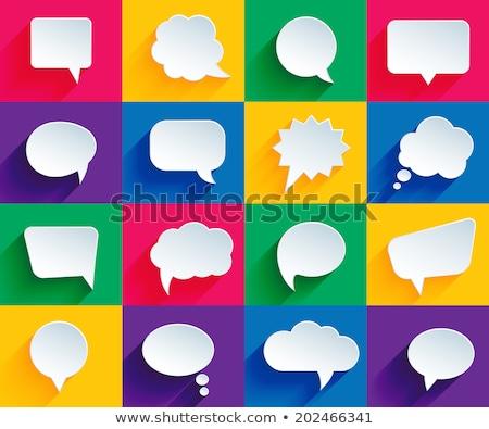 Conversation coloré affiche groupe Photo stock © Voysla