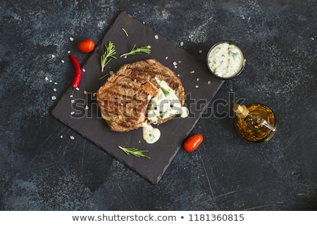marinált · disznóhús · kotlett · zöldségek · zöldbab · piros - stock fotó © digifoodstock