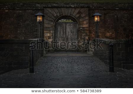 velho · castelo · portão · torres · antigo · relógio - foto stock © dmitroza