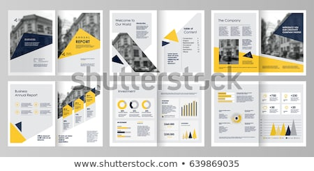 jaune · annuel · rapport · modèle · affaires · brochure - photo stock © ganpanjanee