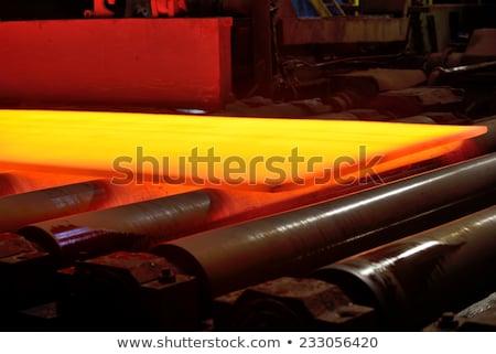 quente · prato · dentro · aço · planta · fundo - foto stock © mady70