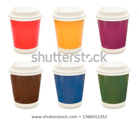 Six colorful disposable cups Stock photo © bluering