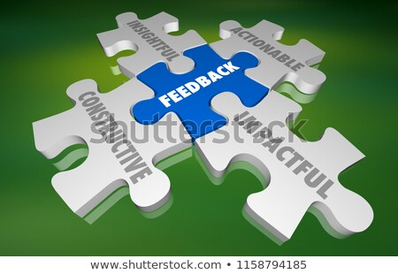 Puzzle słowo sprzężenie zwrotne puzzle budowy komunikacji Zdjęcia stock © fuzzbones0