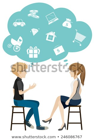 Faceless men and women with empty callouts Stock photo © bluering