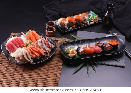 sushi · sashimi · fotoğraf · lezzetli · gıda · dikdörtgen · biçiminde - stok fotoğraf © Francesco83