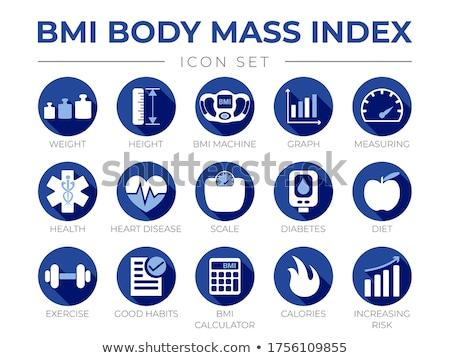 diabetes disease health medical icons set stock photo © redkoala