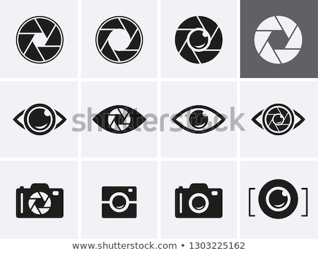 Logo Icon of a Shutter Eye Vector Illustration Stock photo © cidepix