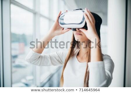 Imprenditrice piedi virtuale occhiali ufficio business Foto d'archivio © wavebreak_media