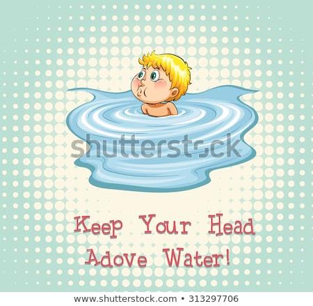 голову · воды · лице · глазах · волос - Сток-фото © bluering