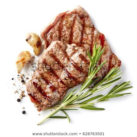 Macro carne alla griglia foto fresche alimentare ristorante Foto d'archivio © artjazz