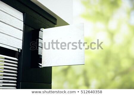 Stock fotó: Kiskereskedelem · bolt · zöld · tér · copy · space · külső