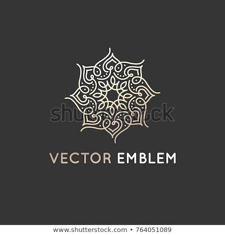 Arab díszek terv ajtó keret arany Stock fotó © zurijeta