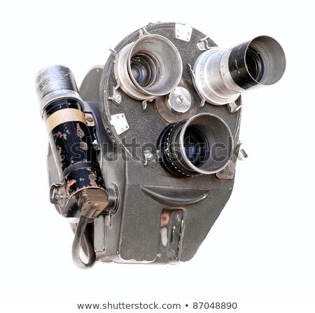 Vintage movie camera with handle stock photo © berczy04