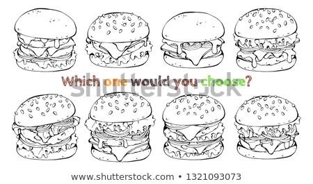 comida · beber · frango · assado · gráfico · arte · restaurante - foto stock © bluering
