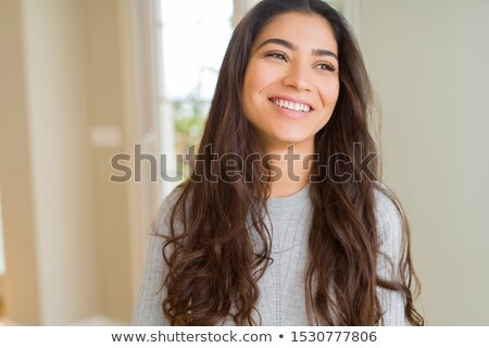 beautiful brunette girl with big smile stock photo © neonshot