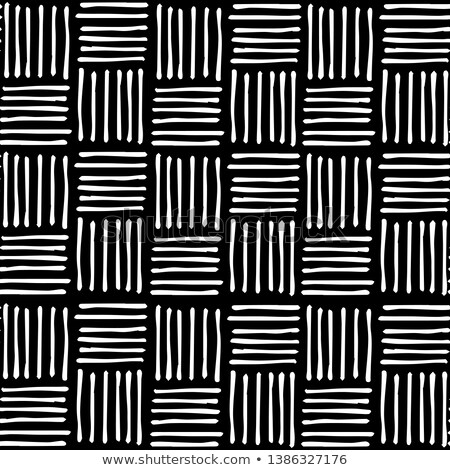 Vector Seamless Hand Drawn Diagonal Grid Pattern Stock photo © CreatorsClub