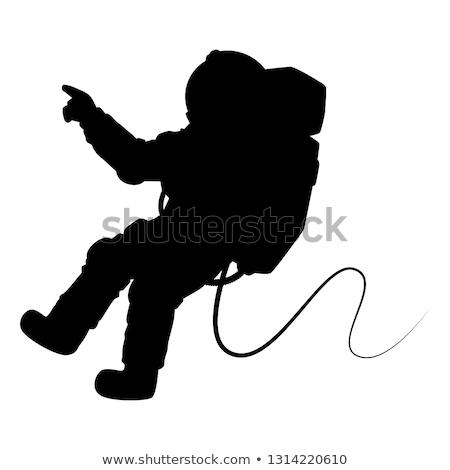 űrhajós sziluett hivatás jó szimbólum logo Stock fotó © comicvector703