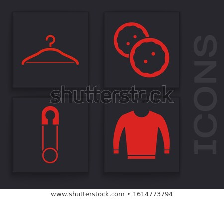 Stock photo: Red plastic clothes pin. Closed