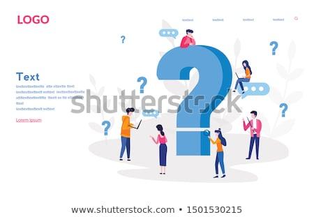 ponto · de · interrogação · ícones · ilustração · branco · fundo · vermelho - foto stock © orson