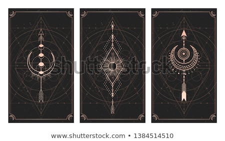 Duchowe geometryczny plakat streszczenie karty Zdjęcia stock © SArts