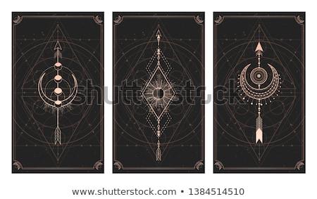 духовных геометрический плакат аннотация карт Сток-фото © SArts