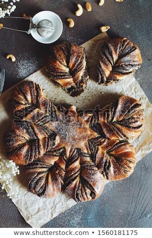 fresh poppy seed bread twist stock photo © digifoodstock