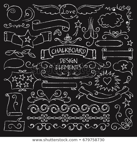 Decorative borders on a chalkboard background - vintage style Stock photo © blue-pen