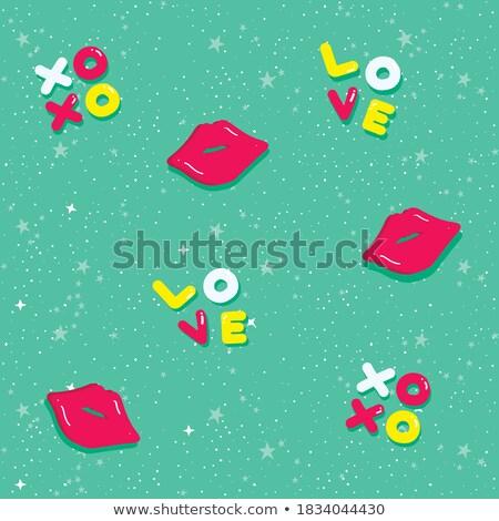 képregény · színes · ábécé · vektor · szett · szöveg - stock fotó © zsooofija